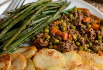 Crispy Potato Topped Meat Pie